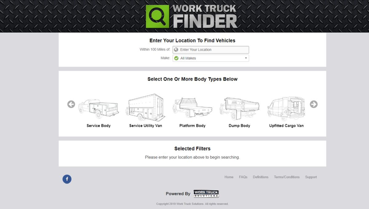 WorkTruckFinder.com is an inventory site powered by commercial and fleet inventories across the United States of participating dealers using Work Truck Solutions.