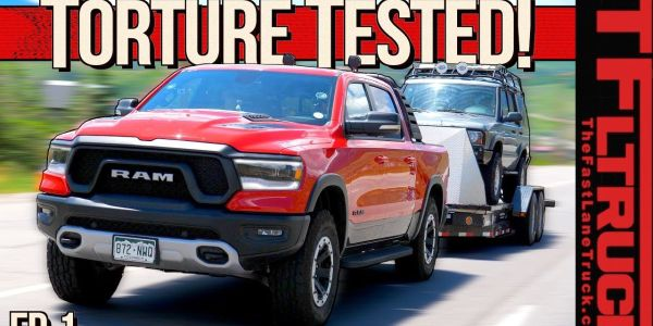 The engine of the 2019 Ram Rebel is being protected with the Shell Rotella Gas Truck synthetic...