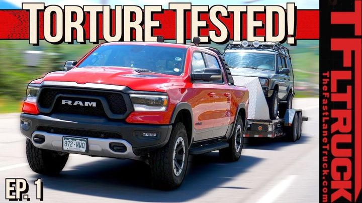 The engine of the 2019 Ram Rebel is being protected with the Shell Rotella Gas Truck synthetic engine oil to demonstrate extreme protection for towing and hauling for gasoline-powered pickup trucks and SUVs. - Screen Capture from Fastlanetruck.com
