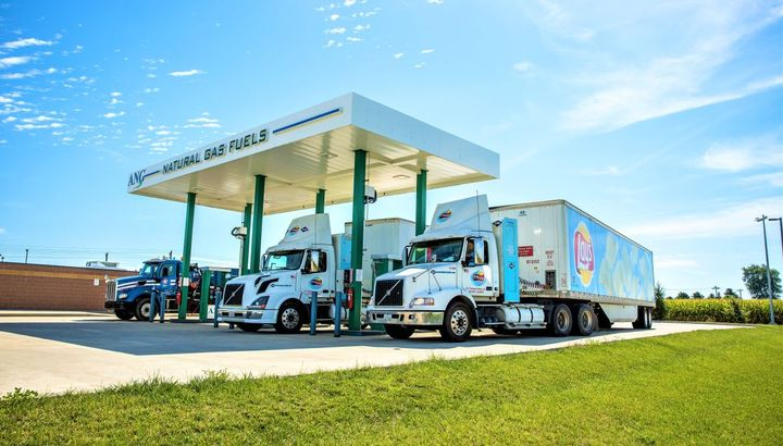 ANG's Natural Gas fueling station in Modesto is scheduled for completion in January of 2020. This three-lane, fast fill, public fueling station will be equipped with the leading CNG technology.  - Photo: ANG