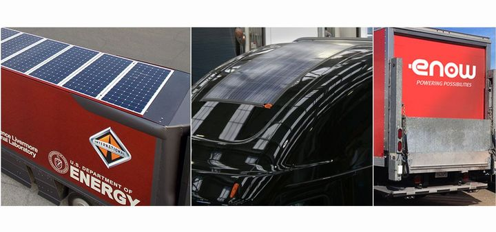 eNow has launched a new solar test program to allow truck fleets to test solar technology before purchasing.  - Photo courtesy of eNow