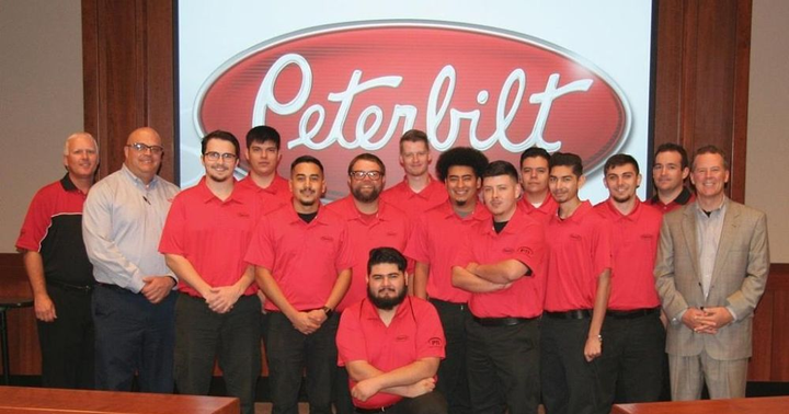 Since the Peterbilt Technician Institute (PTI) opened its doors in November 2013 at the Universal Technical Institute campus in Dallas, more than 500 students have graduated from the program.  - Photo courtesy of Peterbilt