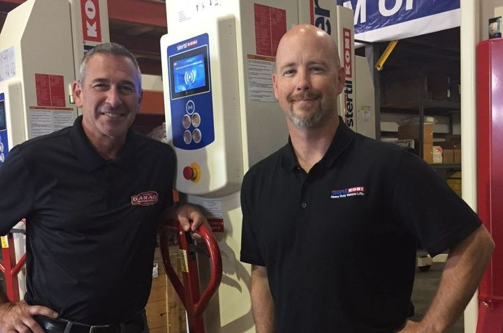 Top management Owner Lee Fiacco (left) and Sales Manager Chris Holmes at Sterti-Koni's newest distributor, GES, are excited to join the team. 