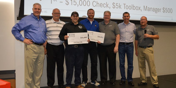 The first place winners were Travis Gannon of Lonestar Truck Group in Waco, Texas in the Vehicle...