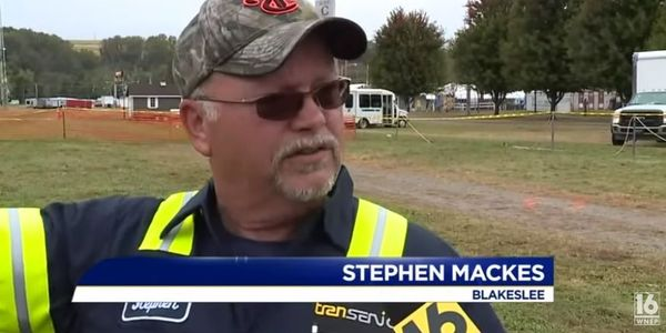 Stephen Mackes helped the pilot and two passengers get out safely by breaking the glass and...