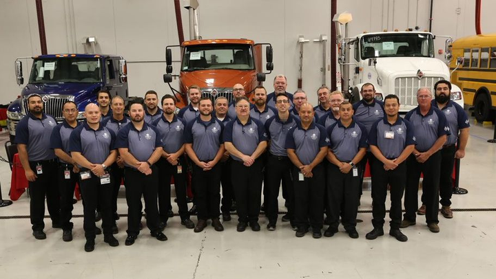 The annual competition, which is hosted at the company's Woodridge, Ill., product support center, tests the skills and speed of service of its top technicians throughout its dealer network.  - Photo: Navistar