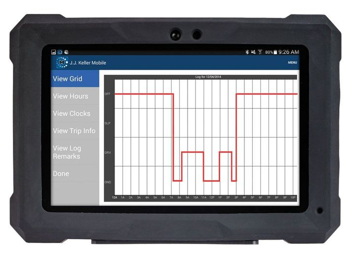Part of an all-inclusive ELD system powered by the Encompass web-based back office, the J.J. Keller Compliance Tablet comes in professional or rugged options.