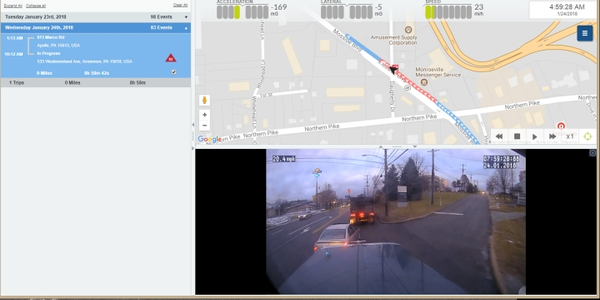 The Teletrac Navman DIRECTOR Event Viewer feature, paired with dashboard camera footage, can be...