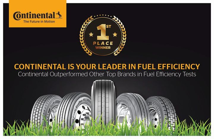 Continental took first place in terms of efficiency in recent third-party testing.  - Photo courtesy of Continental