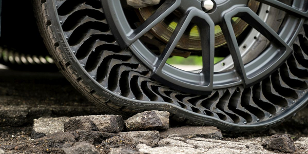 The Uptis concept tire is airless and punctureless