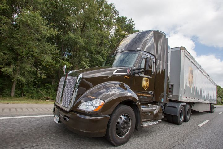 A UPS Freight driver was awarded damages after refusing to drive without a proper ELD device installed in the vehicle. - Photo: UPS