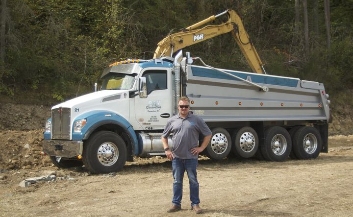 In 2007, Chris Thornhill (pictured) founded PGH Excavating with his brother Nick. - Photo: Kenworth