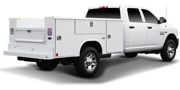 The Classic II Service Body utilizes an aluminum truck body.