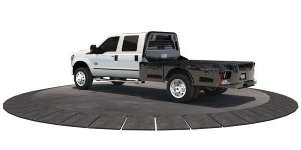 The SK Body from CM Truck beds (pictured) will be on display with the new 2019 Chevrolet...