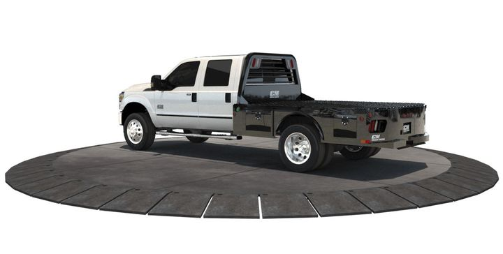 The SK Body from CM Truck beds (pictured) will be on display with the new 2019 Chevrolet Silverado 4500 HD. 