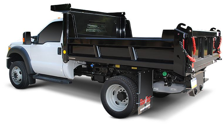 When evaluating contractor, landscape, or flatbed dumps, think in terms of length, width, and height of sides (if applicable). For example, the spec may be a 12-ft. flatbed dump, 96 inches wide with 24-inch stake rack sides.