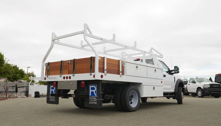 Royal manufactures and assembles truck body options for various trades, service utility truck bodies, stake body trucks, service vans, contractor trucks, and dump trucks.