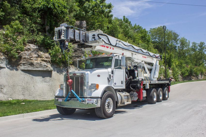 Custom Truck expands to California, offering construction and utility fleet equipment such as the Elliott E160R 2017 Peterbilt 365 8×6 (pictured).  - Photo courtesy of Custom Truck One Source