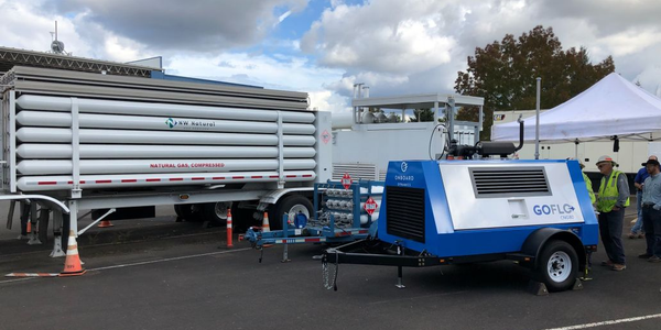 NW Natural is testing a mobile natural gas compressor.