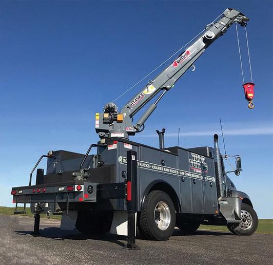 The HT45KX is a 7,800-pound hydraulic service crane.  - Photo courtesy of Venco Venturo