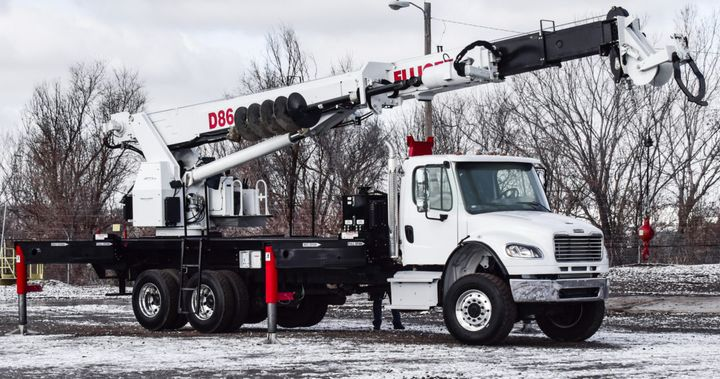 The D86transmission digger derrick will be on display at ICUEE.  - Photo courtesy of Elliott Equipment