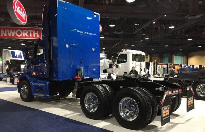 Late last year, SoCalGas offered qualified fleets interested in trying out natural gas with the opportunity to test drive a 12L natural gas truck. The truck was displayed at the 2018 ACT Expo in Long Beach, Calif. - Photo courtesy of SoCalGas