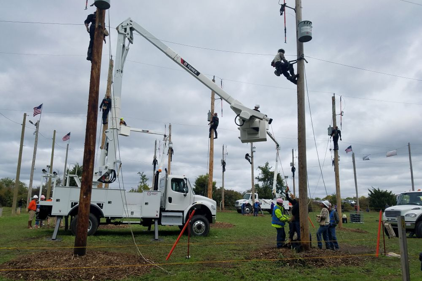 Terex Optima TC55 aerial devices were used to set up the Hurtman Rescue event, where line...