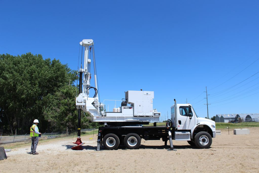 Attendees can receive training on the Telelect Digger Derrick (pictured), Hi-Ranger Aerial...