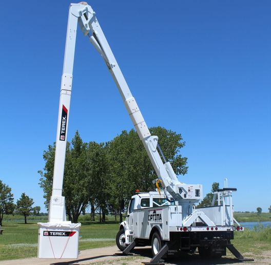Terex will display the Optima TC55 aerial device at the Work Truck Show 2019.  - Photo courtesy of Terex Utilities