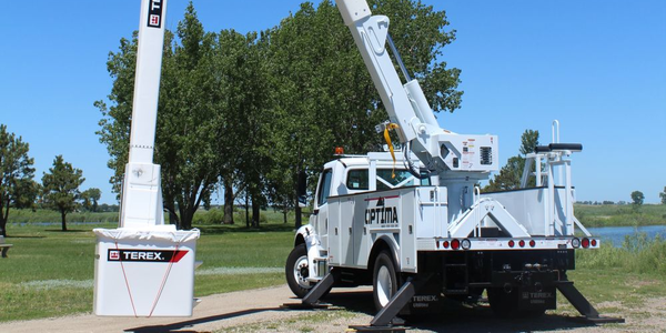 Terex will display the Optima TC55 aerial device at the Work Truck Show 2019.