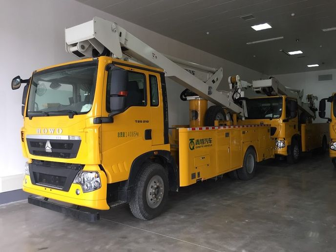 TheState Grid Corporation of China will use Versalift VST-6000-MHI aerial lifts mounted onHowo T5G 210 chasses.  -