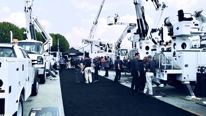 Versalift showcased a line of bucket trucks specifically for forestry applications.