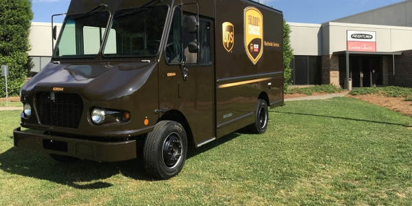 UPS and FCCC celebrate the 50,000th chassis delivered to UPS. Photo courtesy of FCCC