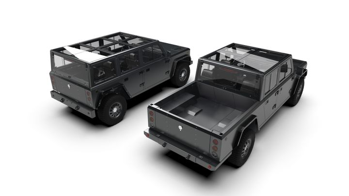 When designing the B2 pickup, Bollinger Motors took notes from its B1 SUV.