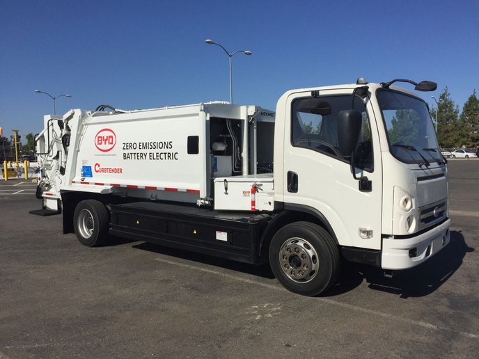 BYD's Class-6 26,000 lbs GVWR truck, is powered by an all-electric power source, enabling more than 85 miles of range with minimal battery degradation.
