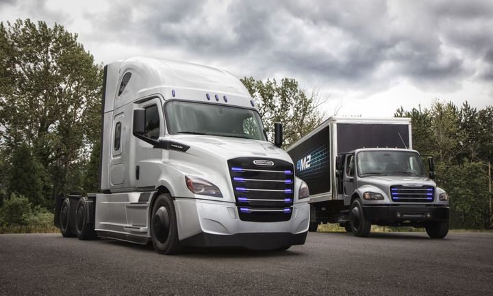 CATL will supply lithium-ion battery cell modules for a wide range of Daimler Trucks & Buses' global electric truck portfolio, including the the Freightliner eCascadia and the Freightliner eM2.