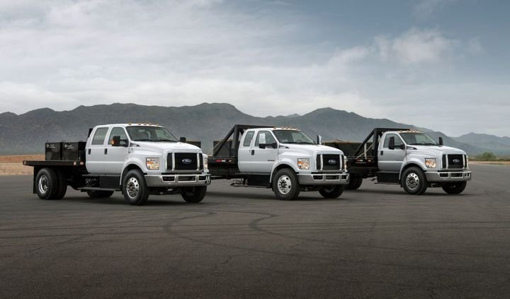 Sales of large Ford F-650/F-750 trucks expanded 105% in the first half of 2021. - Photo: Ford