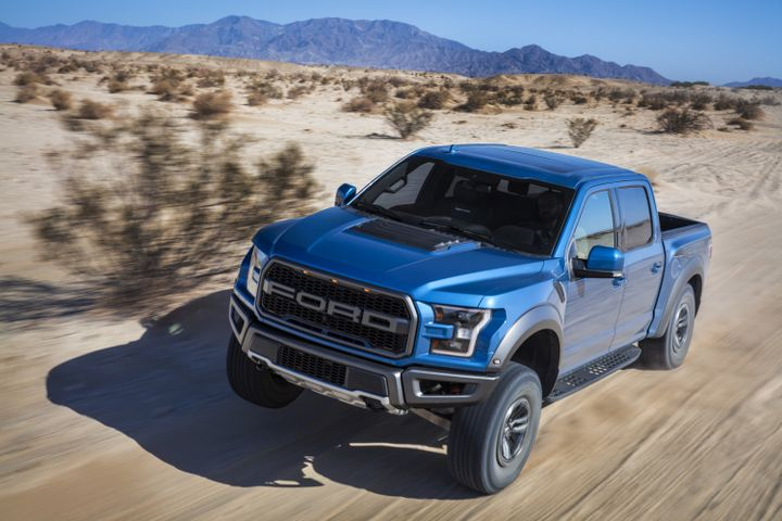 The New Trail Control system on the 2019 Ford F-150 Raptor is like cruise control for low-speed, rugged terrain – automatically adjusting to send power and braking to each individual wheel to allow drivers to focus on steering along the trail.