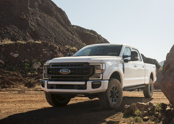 The 2020-MY Ford F-250 is among the recent tire-related recall announced by Ford. - Photo: Ford Motor Co.