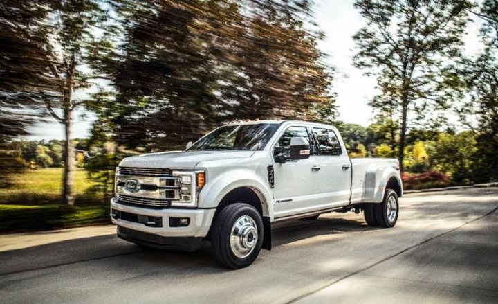 Ford is recalling its F-Series Super Duty trucks, including the F-450 (shown), for a transmission defect.