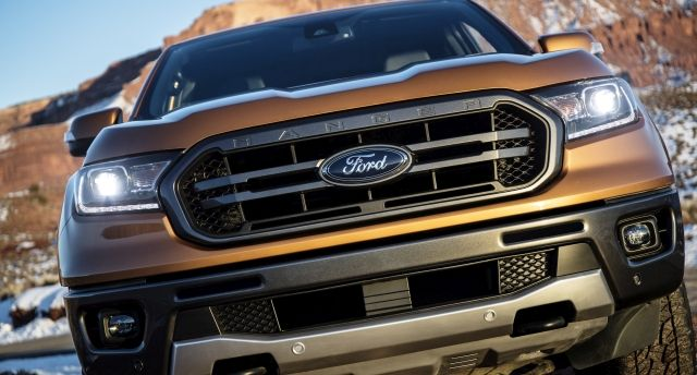 The 2019 Ford Ranger returns to North America larger than when it left nearly eight years ago.  - Photo courtesy of Ford Motor Co.