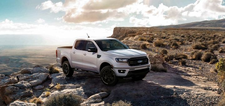 The Ranger Black Appearance Package is available as an option for $1,995 (excluding taxes) and can be ordered at dealers now, with deliveries targeted to begin in early summer.  - Photo courtesy of Ford