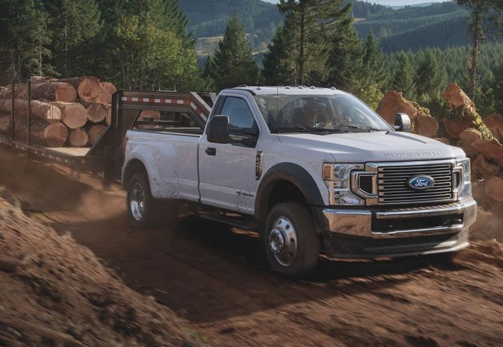 A potentially cracked bracked prompted a recall of Ford Super Duty truck models. - Photo: Ford Motor Co.