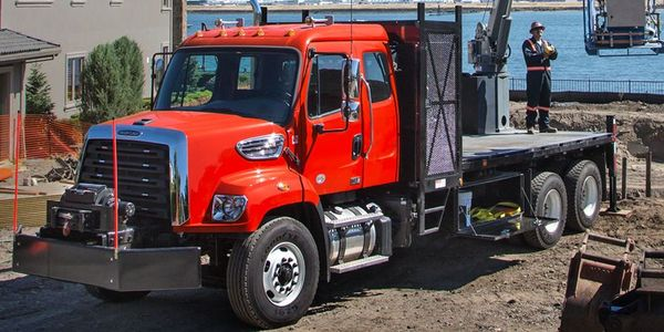 The Freightliner 108SD features multiple PTO options and a chassis engineering for upfit ease.