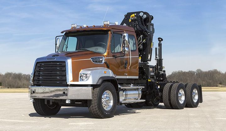 The 2021-MY Freightliner 114SD Severe Duty Truck is among the vehicles being recalled for potential fuel leaks. - Photo: Freightliner