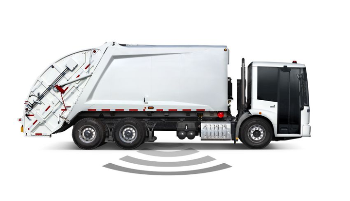 The Freightliner EconicSD comes standard with Detroit Assurance suite of safety systems, which includes side guard assist. Side guard assist utilizes radars to sense objects on the side of the truck and alerts the driver.