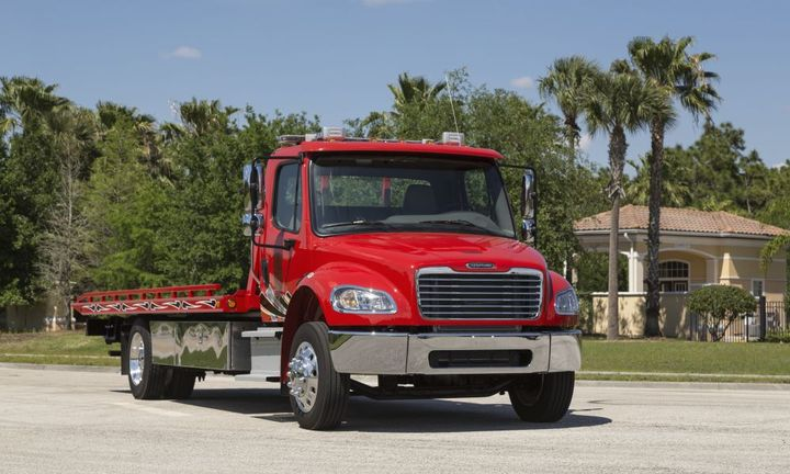 Available as a truck or tractor, the Freightliner M2 106 supports a wide range of bodies and chassis-mounted equipment. - Photo: Freightliner