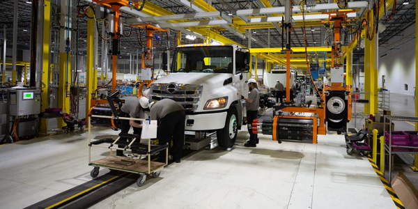 Hino's first truck rolled off the assembly line at the new plant in June where it will continue...
