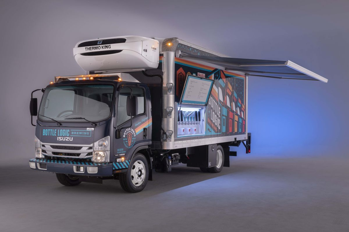 To showcase how a craft brewer can maximize its investment in a delivery truck, Isuzu, Supreme, and Delivery Concepts Inc. developed a craft beer truck that can not only make deliveries, but also can be used at live events for promoting the product.