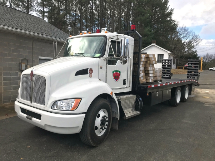 To cover all the Commonwealth's forests – nearly 16 million acres – the agency utilizes 88 transporter/dozer units, 56 of which are Kenworths.Photo courtesy of Kenworth